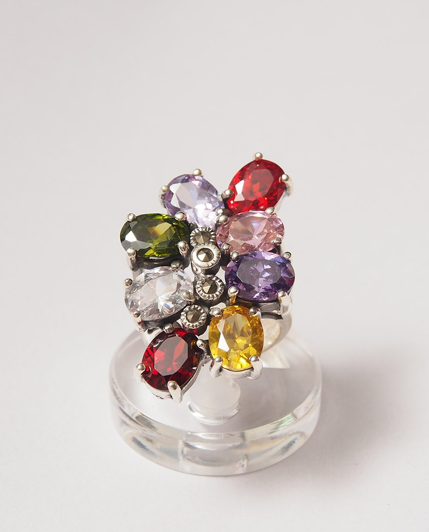 925 Silver Ring / R-093 MIX