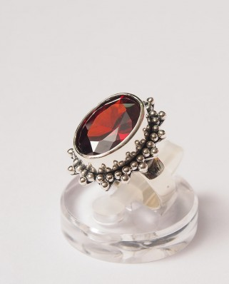 925 Silver Ring / R-106RED