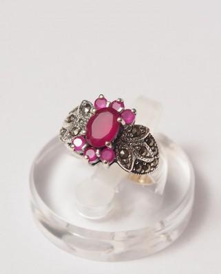 925 Silver Ring / R-109 RUBY
