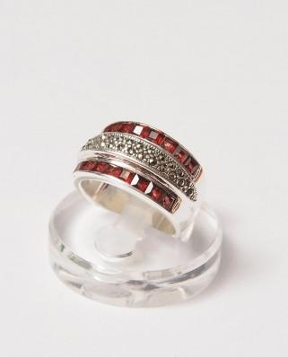 925 Silver Ring / R-221 GARNET
