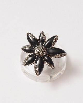 925 Silver Ring / R-207 BLACK