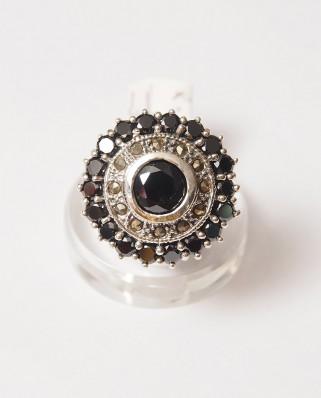 925 Silver Ring / R-294 BLACK