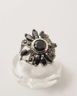 925 Silver Ring / R-175 BLACK