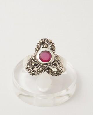 925 Silver Ring / R-190 RUBY