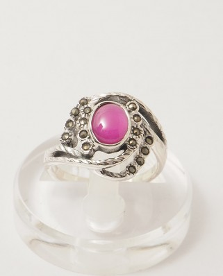 925 Silver Ring / R-192 RUBY