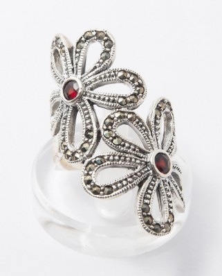 925 Silver Ring / R-254 RED