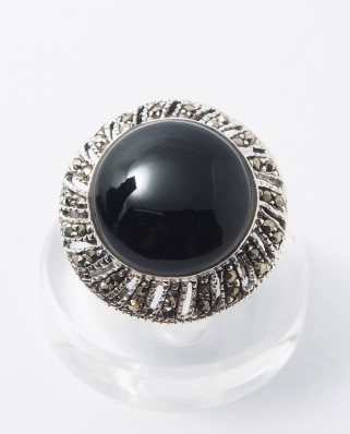 925 Silver Ring / R-246 BLACK