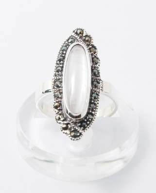 925 Silver Ring / R-247 WHITE