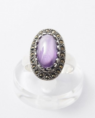 925 Silver Ring / R-248 PURPLE