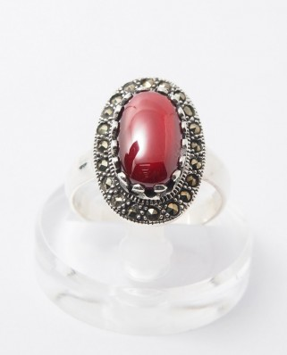 925 Silver Ring / R-248 RED
