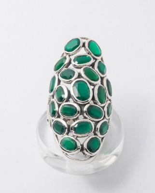 925 Silver Ring / R-349 GREEN