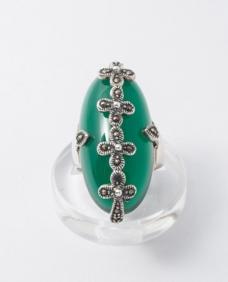 925 Silver Ring / R-350 GREEN