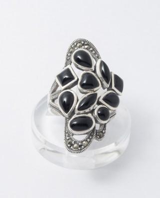 925 Silver Ring / R-355 BLACK