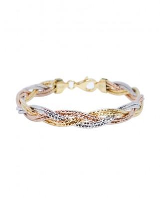 鍍玫瑰金純銀手鏈