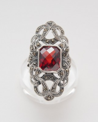 925 Silver Ring / R-369 RED