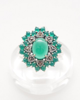 925 Silver Ring / R-364 GREEN