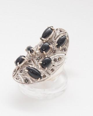 925 Silver Ring / R-404 BLACK