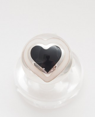 925 Silver Ring / R-406 BLACK