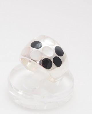 925 Silver Ring / R-408 B/W