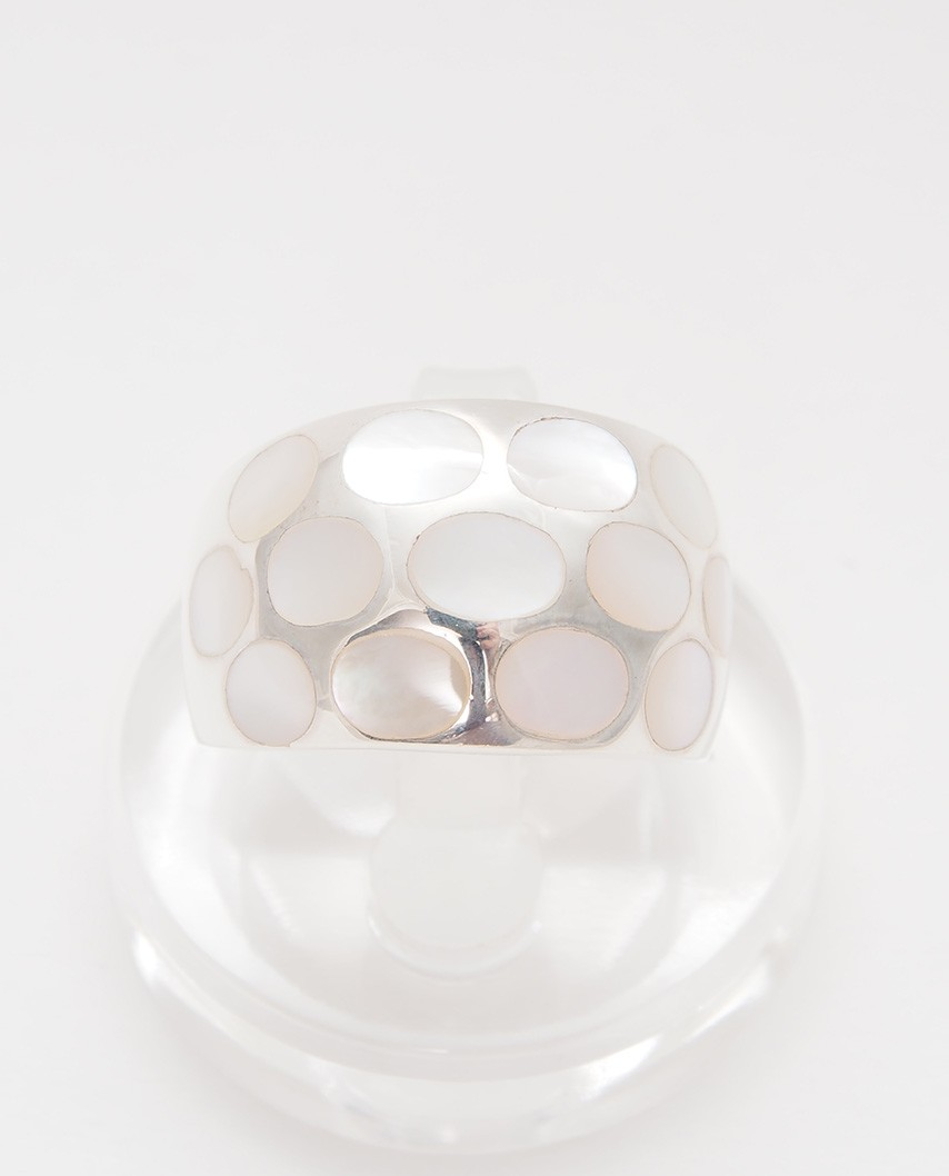925 Silver Ring / R-408 WHITE