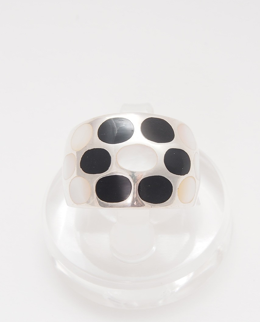 925 Silver Ring / R-408 W/B