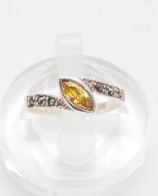 925 Silver Ring / R-412 YELLOW