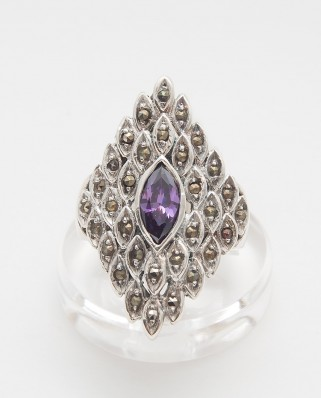 925 Silver Ring / R-429 PURPLE