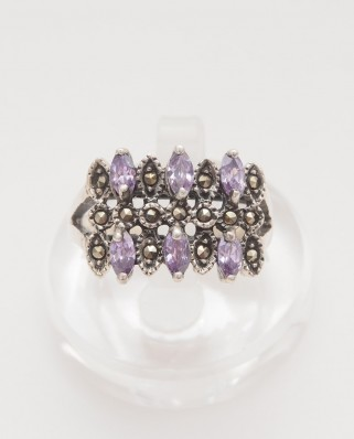 925 Silver Ring / R-397 PURPLE