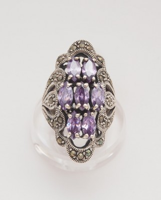 925 Silver Ring / R-422 PURPLE