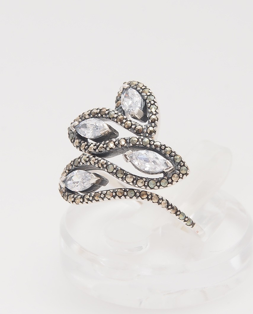 925 Silver Ring / R-425 WHITE