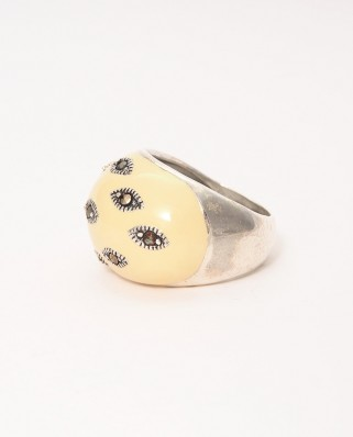 925 Silver Ring / R-392 YELLOW