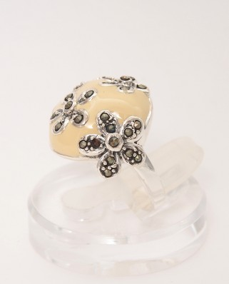 925 Silver Ring / R-389 YELLOW