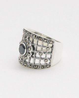 925 Silver Ring / R-438 BLACK