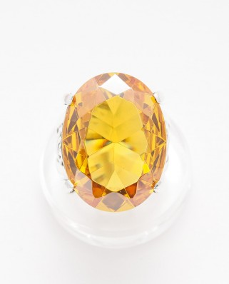 925 Silver Ring / R-441 YELLOW