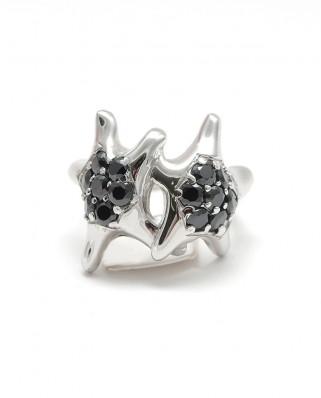 925 Silver Ring / R-473 BLACK